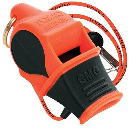 Dog Training Whistle - Fox 40 Sonik Blast whistle (orange black)