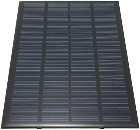ACAMPTAR 18V 2,5W Polykristallines Stored Energy Power Solarmodul System Solarzellen Ladegeraet 19.4x12x0.3cm