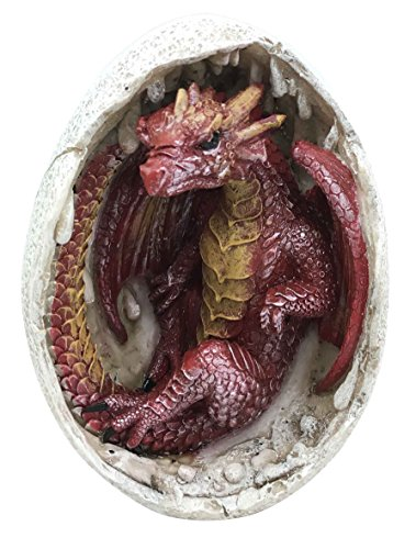 Ebros Gift Ancient Mercury Red Dragon Hatchling Breaking Out of Egg Shell Figurine Myth & Legends Collectible Statue Decor for Fantasy Lovers Game of Thrones Khaleesi Mother of Dragons Medieval -
