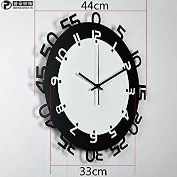 Wall clock WERLM Página de Inicio Personalizada Redondo Reloj de Pared Reloj de Pared Reloj Digital Mudo es un Restaurante Familiar cocinas Office escuelas ...
