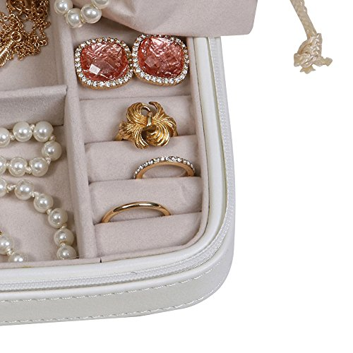 Mele & Co. Dana Travel Jewelry Case in Faux Leather (Ivory) by Mele & Co. (Image #7)