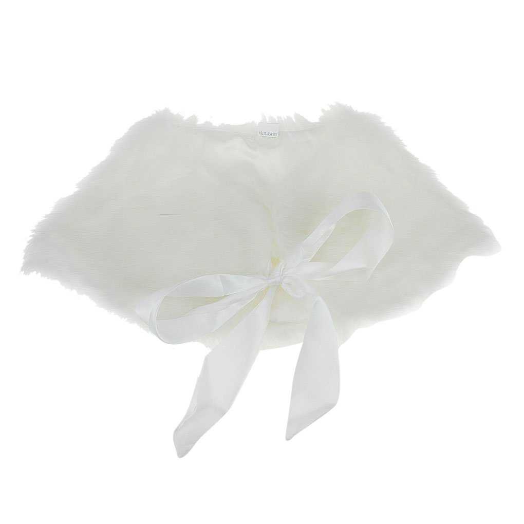 Fakeface Flower Girls Faux Fur Shoulder Cape Winter Warm Party Wedding Wraps Capelets Clothes