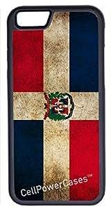 iPhone 5 5s Case, CellPowerCasesTM Dominican Republic Flag [Flex Series] -iPhone 5 5s Black Case [iPhone 5 5s V1 Black]