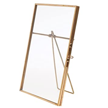 Amazoncom Monkeyjack Vintage Metal Glass Frame Freestanding