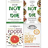 Books : How Not to Die Cookbook, Hidden Healing Powers And Body Reset Diet 4 Books Collection Set