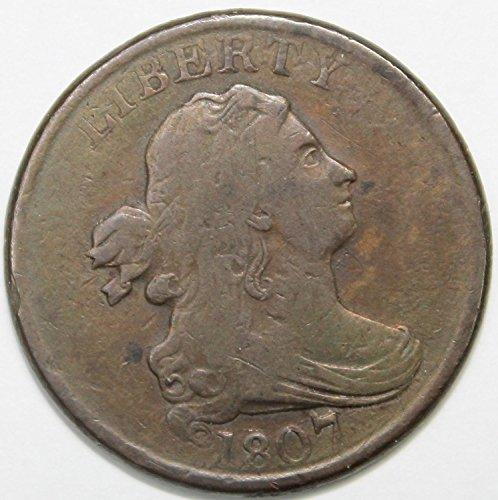 1807 Draped Bust Half Cent 1/2c Very Fine