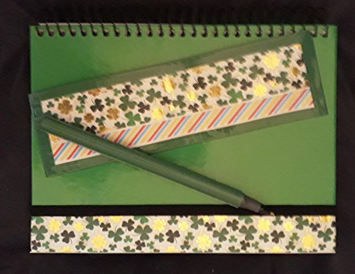 Gold Shamrock Journal Diary Set St Patrick's Day