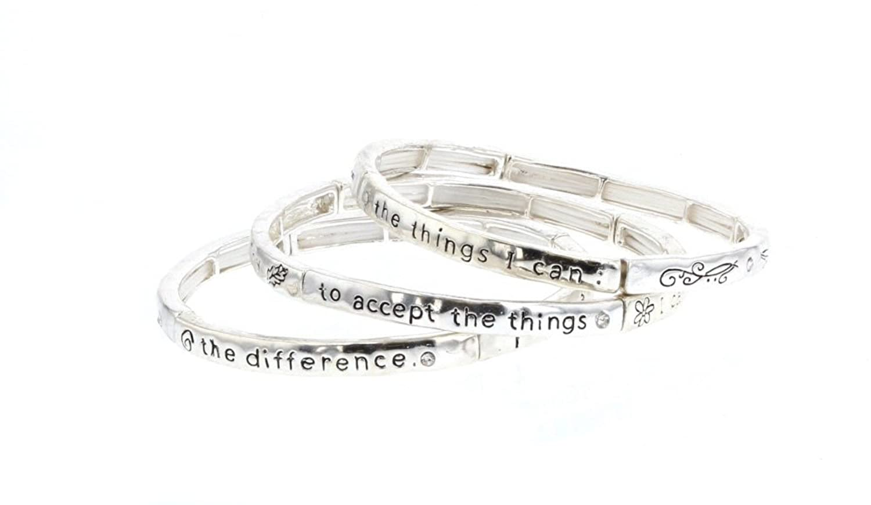 33c6fdf7405 DIDa Heart Bracelet Rose Gold Bracelet for Women Adjustable Bracelet Bangle.  Now:$25.99$27.99. OOri Women's Inspirational Poem Triple Strand Stretch ...