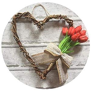 Wedding Real Touch Flowers Tulip Artificial Flower Latex Wedding Bouquet Home Garden Decoration Flower 10Pcs 59