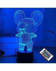 FULLOSUN 3D Koala Nachtlampje Dierlijke Illusie LED Lamp voor Kinderkamer Decoratie met Afstandsbediening 16 Kleur Veranderende Unieke Xmas Halloween Verjaardagscadeau voor Kind Baby Jongen en Meisje …