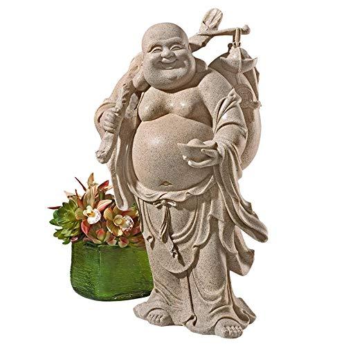 Design Toscano JQ3859 Wandering Happy Hotei Buddha Statue ()