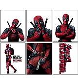Deadpool Movie - SET of Six 8x10 Photos and Mini Posters of the Marvel Comic Mercenary Superhero - Great GIFT Idea
