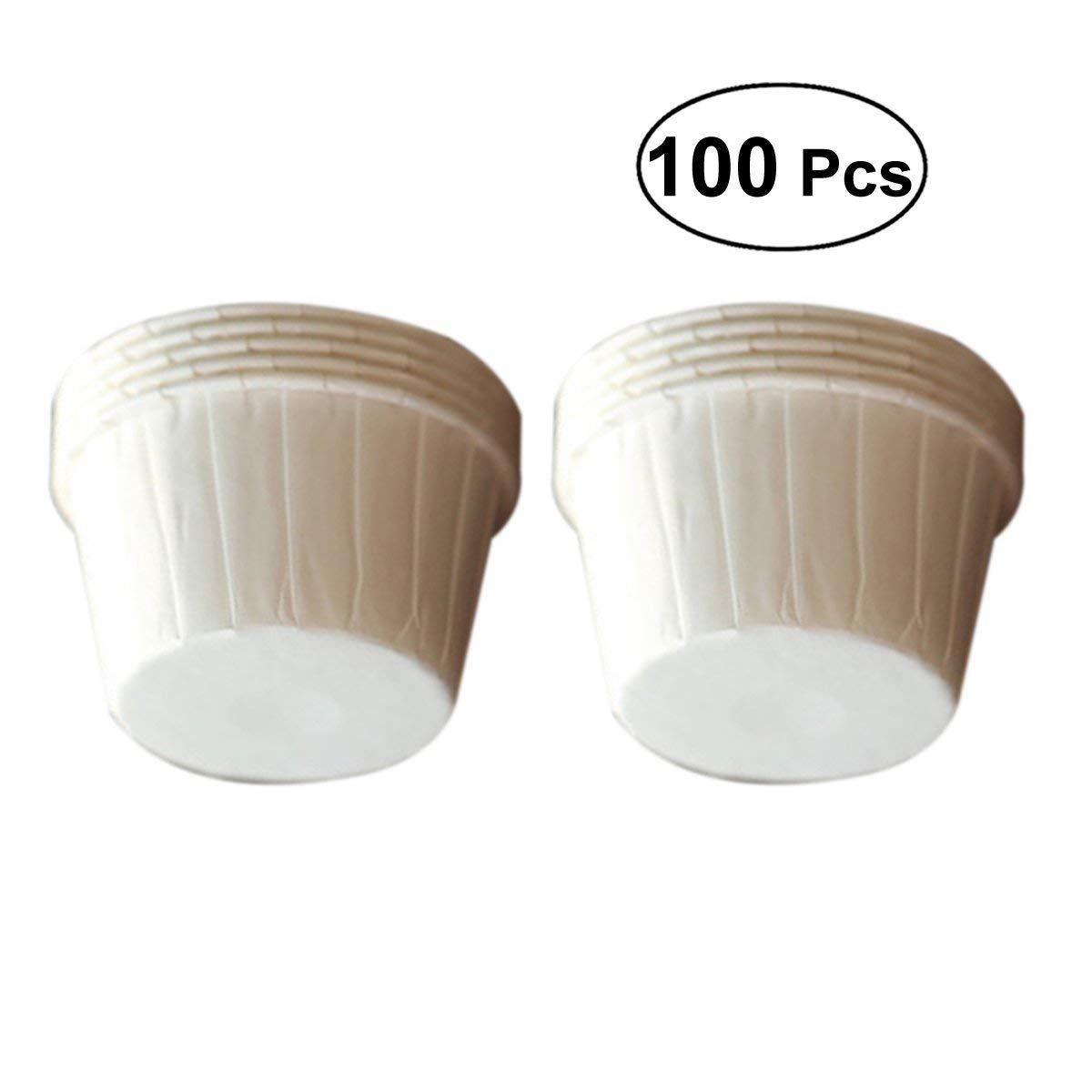 bestonzon 100/pure wei/ß Cupcake-Backf/örmchen Muffin Wrapper-Liners Kuchen F/ällen Form