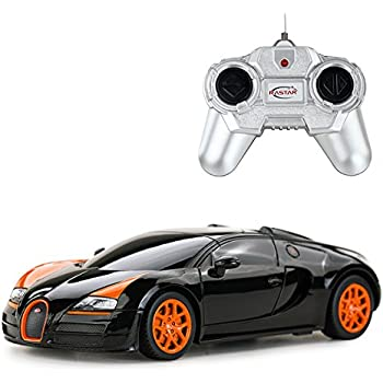 Licensed Bugatti Veyron 16.4 Grand Sport Vitesse RC Car 1:24 Scale Rastar RTR (Colors May Vary) Authentic Body Styling