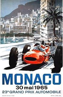 1968 Monaco Grand Prix A3 Poster Reprint