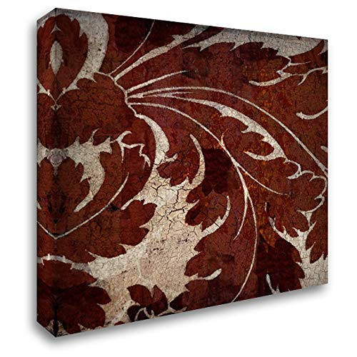 Crackled Tile I 32x32 Extra Large Gallery Wrapped Stretched Canvas Art by Montillio, Louise