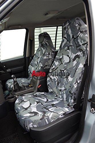 L200 SINGLE CAB (06+) FRONT SEAT COVERS GREY CAMO DPM automotique