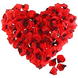Rose Petals, ETEREAUTY 3000Pcs Artificial Flower Petals for Wedding Flower Decoration Romantic Night Party and Hotel Home Decoration , Dark Red