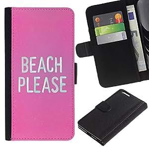 iBinBang / Flip Funda de Cuero Case Cover - Abedul divertido texto blanco - Apple Iphone 6 PLUS 5.5