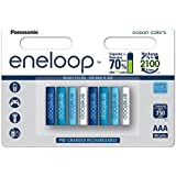 松下 eneloop 可立即使用的 Ni-Mh 电池 Multi-Colour 8er Pack Ocean 2902