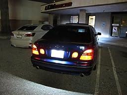iJDMTOY Super Bright 18-SMD OEM Replacement LED License Plate Light Lamps For Lexus IS300 GS300 GS400 GS430 ES300 ES330 RX330 RX350 Toyota Prius, etc