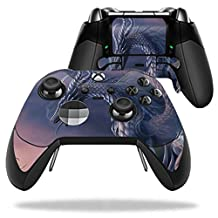 MightySkins Protective Vinyl Skin Decal for Microsoft Xbox One Elite Wireless Controller case wrap cover sticker skins Dragon Fantasy