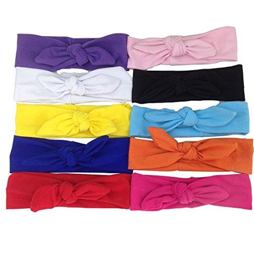 XIMA cotton top knot baby headband,sailor top knot headband,baby tie knot headwrap,knot (Line Sailors Knot)
