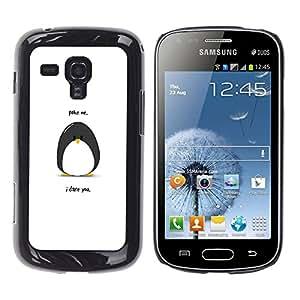 Stuss Case / Funda Carcasa protectora - Funny Poking Penguin - Samsung Galaxy S Duos S7562