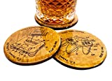 Premium N64 Patent Print Coaster Set - 4 3.5'' Round Hand Made Gaming Barware Gift Idea