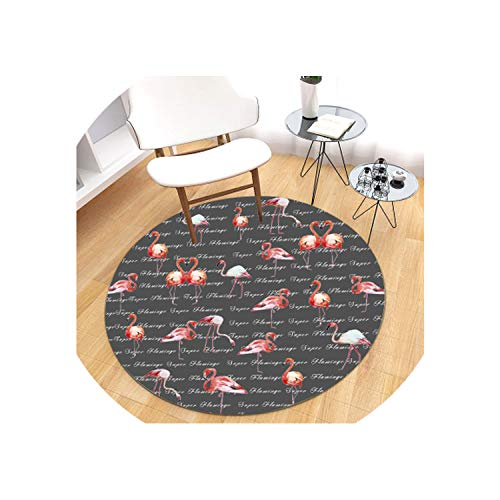 140cm Diameter 3D Lotus Round Carpet for Living Room Parlor Bedroom Chair Rugs Classic Home Decoration Non-Slip Toilet Bath Mat,19,Diameter 60cm