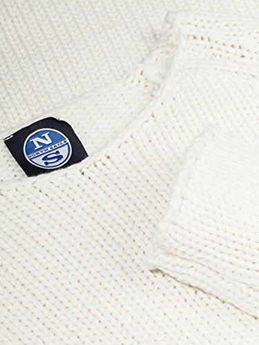 North girocollo righe Chunky Sails Pallido oversize Grigio maglione regolare 5gg donne a delle a 1 Iw7Irq1
