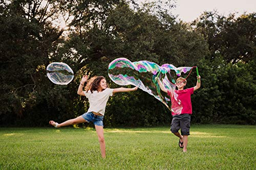 WOWMAZING Giant Bubbles Family Pack - Best Value - Big Bubbles kit Including Big Bubble Wand and Giant Bubble Solution Concentrate (Makes 2 Gallon of Large Bubbles) by WOWMAZING (Image #2)