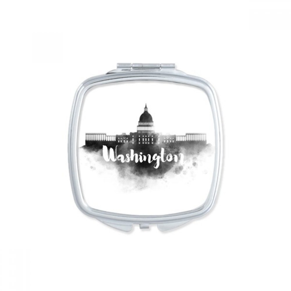 Washington America Ink City Square Compact Makeup Pocket Mirror Portable Cute Small Hand Mirrors Gift