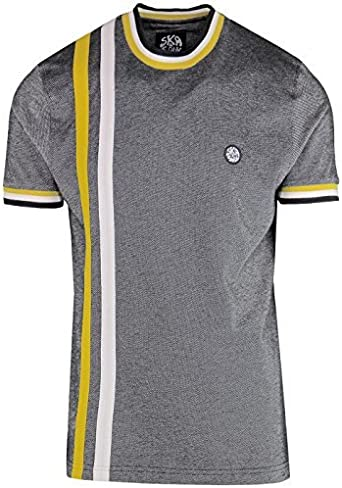 Ska & Soul Vintage para Hombre Retro Mod 2 Rayas Pack Camiseta SS ...