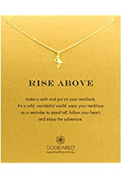 """Dogeared """"Rise Above"""" Flamingo Necklace, Gold Dipped 16"""""""