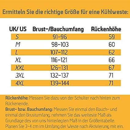 K/ühlweste Zertifiziert nach EN ISO 20471 K/ühlende Warnweste 4 XL   HPXfresh 4XL gelbe Sicherheitsweste Gr/ö/ße S