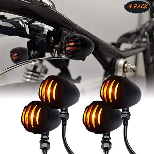 Triclicks Motorcycle Turn Signal Light Indicator Bulbs Front/Rear Blinker Amber Lamp For Harley Honda Suzuki Yamaha Kawasaki Custom: