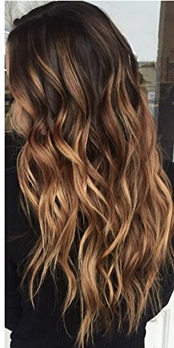 Caramel blonde balayage ombre