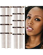 4D Hair-Like Authentic Eyebrow Tattoos 99 Pairs! Waterproof Brown Eyebrow Transfers Stickers,Grooming Shaping Eyebrow Sticker in Arch Style,Suitable Sizes,Popular Colors,Exquisite Workmanship