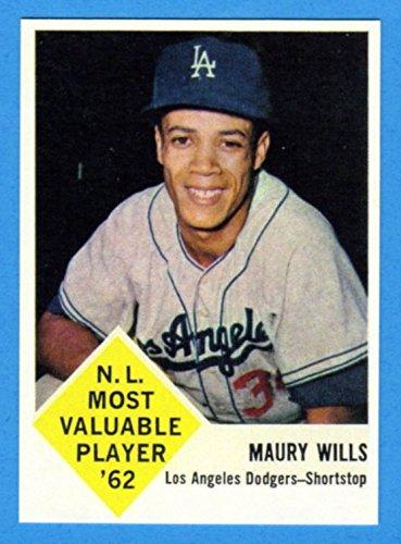 Maury Wills 1963 Fleer Baseball Rookie Reprint Card (Dodgers)