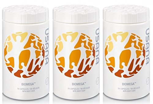 Usana Biomega, 56 Capsules, (3 bottles) by USANA