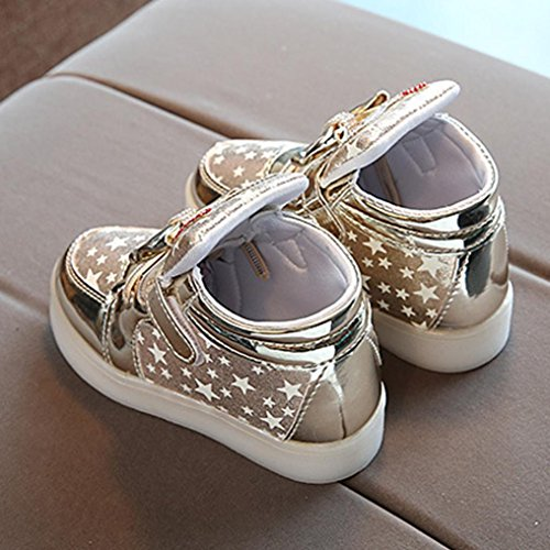 Egmy 2017 Baby Sneakers Star Luminous Child Casual Colorful Light Shoes Gold ndnDR