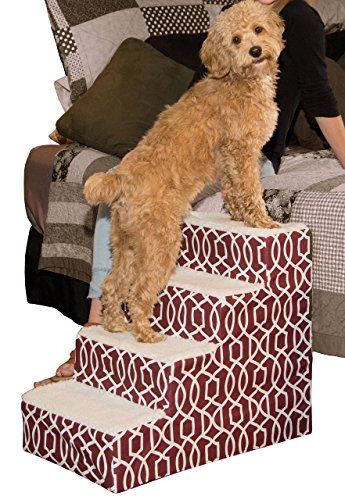 Pet Gear Soft Step IV Pet Stairs, 4-Step for Petsup to 50...