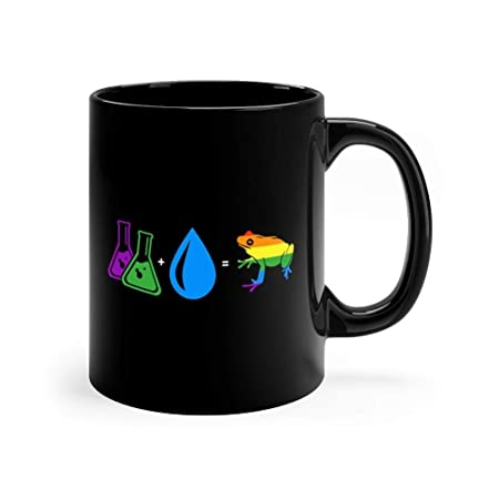 Amazon.com: Gay Frogs – Taza de café de cerámica negra con ...