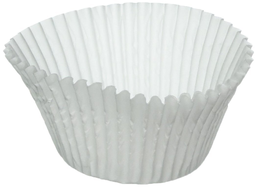 100 White Large Jumbo Texas Muffin / Cupcake Cups White flutted Cupcake Liners Baking Cups CakeSupplyShop