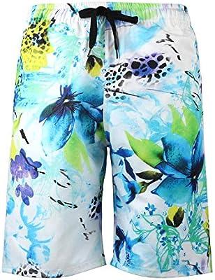 Mens Beachwear Board Shorts Hawaiian Quick Dry Swim Trunks Bathing Suits Pant