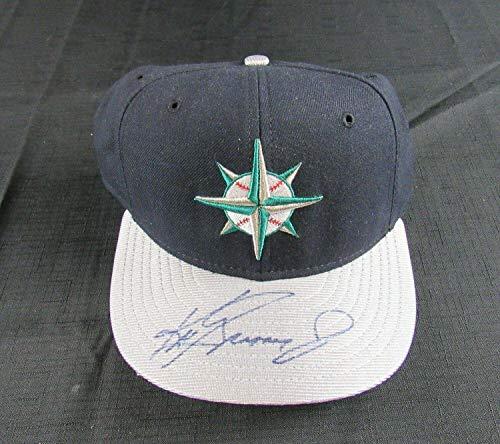 Ken Griffey Jr Autographed Baseball - Ken Griffey Jr Signed Auto Autograph New Era Mariners Baseball Cap DD10992 - JSA Certified - Autographed MLB Hats
