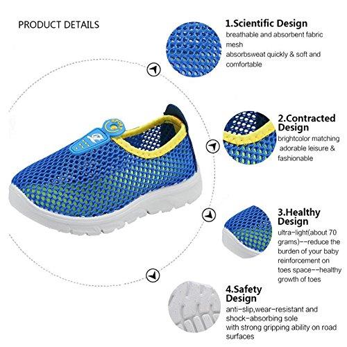 CIOR Kids Slip-on Breathable Sneakers For Running Beach Toddler / Little Kid,D110,Blue?32 6