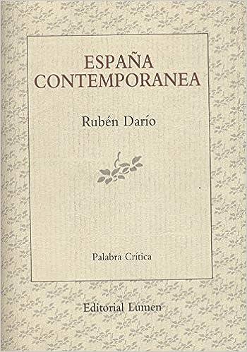 España contemporanea (Palabra crítica): Amazon.es: Darío, Rubén: Libros