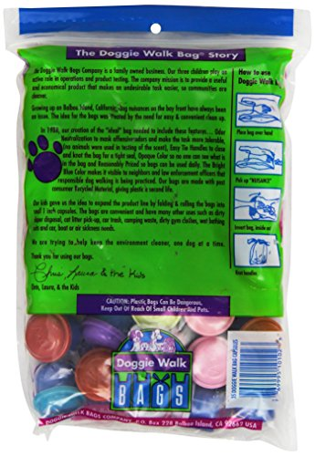 Picture of Doggie Walk Bags Classic Baby Powder Bag, Blue, 35 Capsules